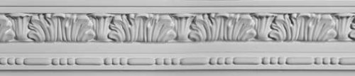 8 Ft Hand Carved Plaster Crown Molding 96 Inches by 4'' Ht X 2.5'' Proj. #DC504-076 by DecoCraft USA by DecoCraft USA