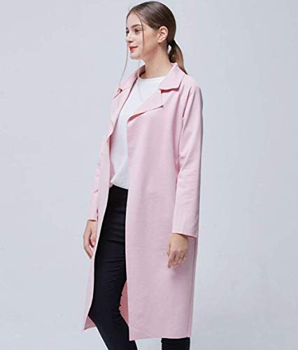 Invierno Secciones Mujer Larga Laterales Abrigo Elegante Otoño 5RrqcRU