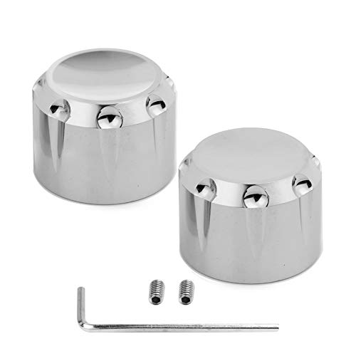 Chrome Motorcycle Front Axle Nut Cover Cap Kit For Harley Touring Electra Glide Softail Dyna Street Glide Sportster