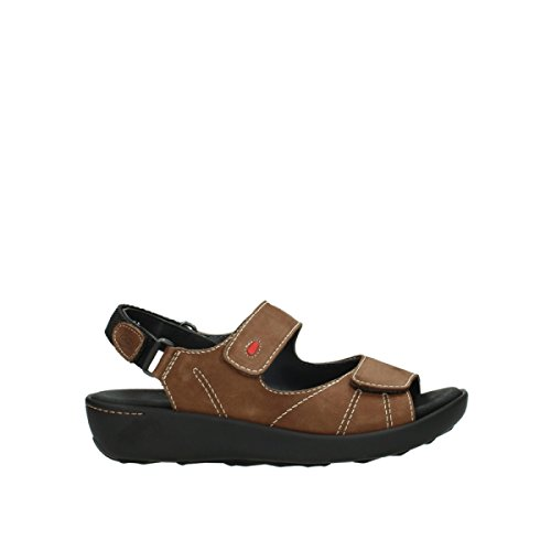 Wolky Comfort Sandals Lin 10310 Middle Brown Nubuck
