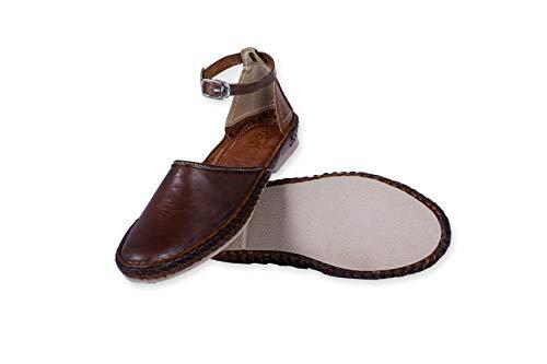 Cuero Broncearse Mujer Desi Zapatos a Puro Elle Mano Hecho Hangover UOxxHPt