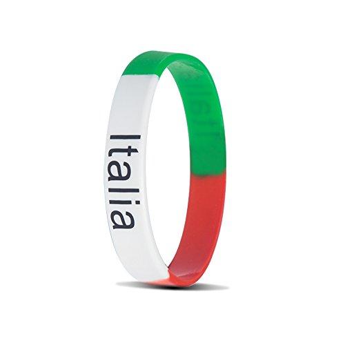RyanLemon Silicone Bracelet Sport Fashion Multicolor Country Flag Unisex Wristband Pack of 10 (Country Flag Silicone Bracelets)