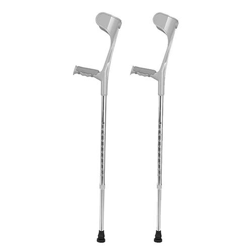 Adjustable Lightweight Forearm Pair Arm Cuff Crutch Ergonomic Comfortable Wrist Handle, Heavy Duty for Standard and Tall Adults, Lightweight Aluminum ()