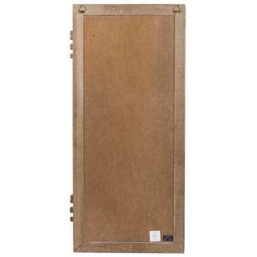Lana45 White Door Frame w/Hinges Chalkboard Rustic Distressed Message Reminder Board Kitchen Craft Room