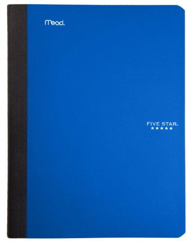 Five Star Composition Book, 100 College-Ruled Sheets, 9.75 x 7.5 Inch Sheet Size, Blue (72263)