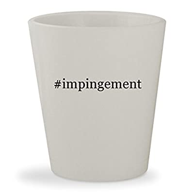 #impingement - White Hashtag Ceramic 1.5oz Shot Glass