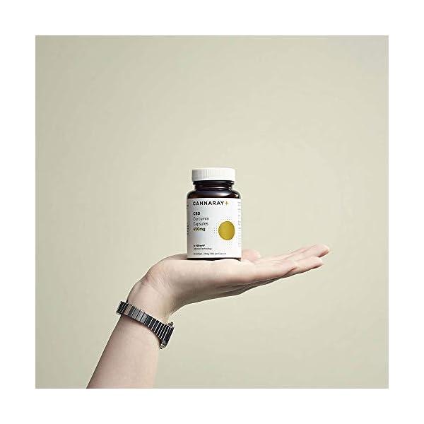 Cannaray Softgel CBD Capsules Curcumin Medium Strength 450mg 30 capsules