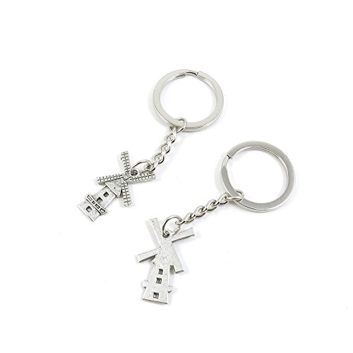 100 Pieces Keychain Door Car Key Chain Tags Keyring Ring ...