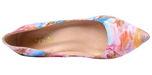 Aooar Scarpe Con Tacco Glitterato Donna Scarpe Dipinte-colorate