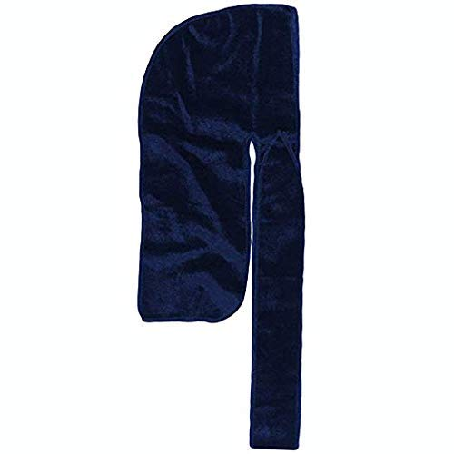 Velvet Durag: Supreme Quality Wave Cap Head Wrap Men Women Kids, Style, Waves, Chemo Cap, Premium Luxury, Long Lasting (Blue)