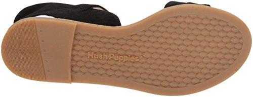 Hush Puppies Donna Abia Chrissie Vl Flat Sandal Nero Scamosciato