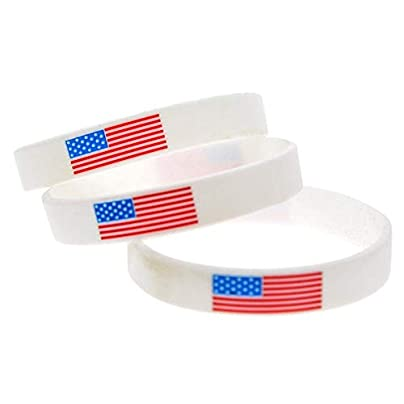 Sxuefang Silicone Wristbands With Symbol American Flag Silicone Bracelets For Men And Kids Encouragement Set Pieces Estimated Price £29.99 -