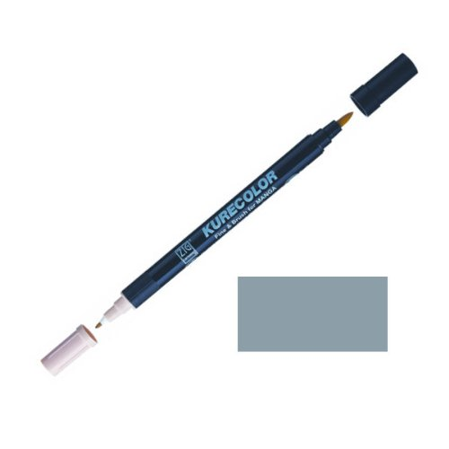 Zig-Kurecolor-Manga-Cartoonist-Fine-Brush-Dual-Tip-Marker-Green-Grey-3
