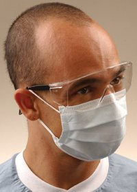 GCICXB PT# GCICXB- Mask Face Isofluid Blue Fog Free LF 40/Bx by, Crosstex International