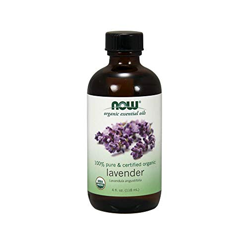 Now Essential Oils, Organic Lavender Oil, Soothing Aromatherapy Scent, Steam Distilled, 100% Pure, Vegan, 4-Ounce (Best Organic Essential Oil Brands)