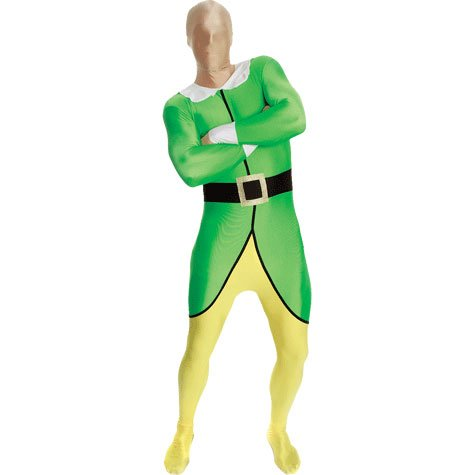 Morphsuits Premium Elf  XXL, Green / Yellow / Black / White, XX-Large