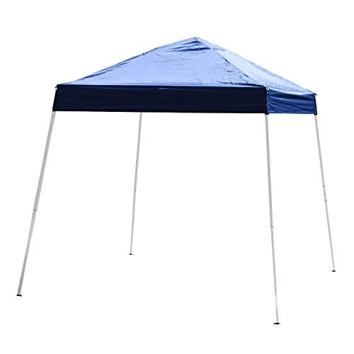 Outsunny 10′ x 10′ Slant Leg Pop up Canopy Tent Blue For Sale