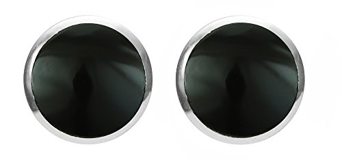 (Boma Jewelry Sterling Silver Onyx Inlay Circle Stud Earrings)
