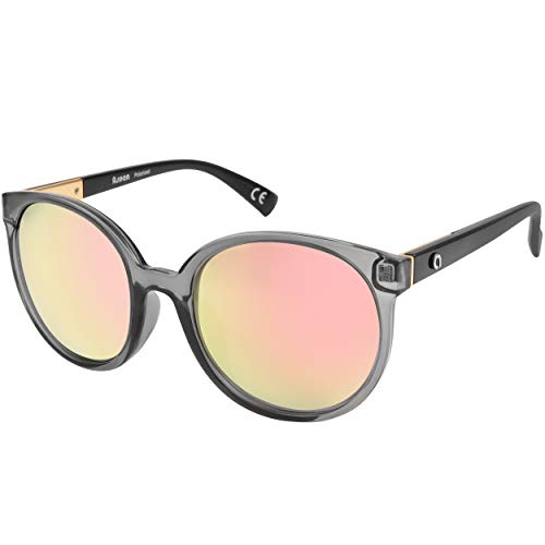 Flux DAHLIA Polarized Round Oversized Fashion and Outdoor Sunglasses for ()