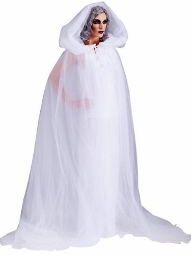 Forum Novelties Women's The Haunted Adult Ghost Costume, White, Standard (Cape Costumes Dress)