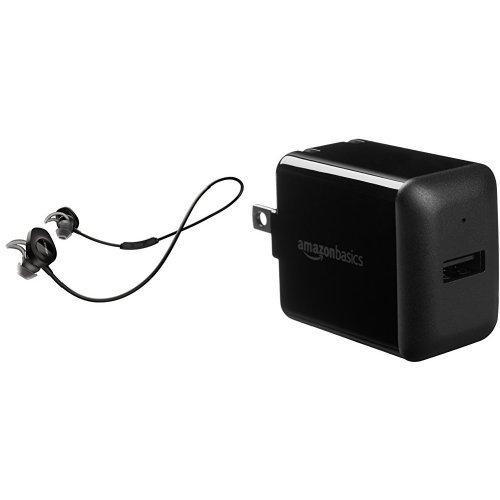 Bose SoundSport Wireless Headphones, Black + AmazonBasics US
