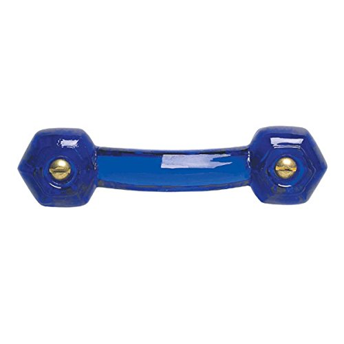 "Cobalt Glass Drawer Pull Cabinet Handle 3"" Boring   Renovator"