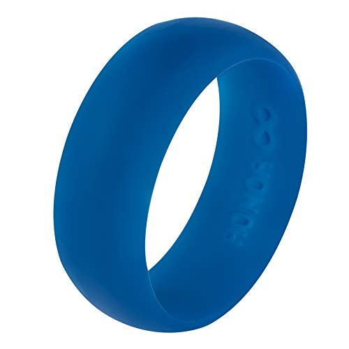 Honor Eternity Ring Men's Silicone Ring Wedding Band (Midnight Blue, 10)