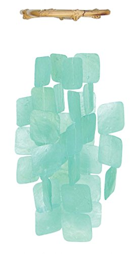 Turquoise Capiz Shell Wind Chime]()