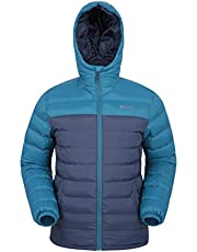 Mountain Warehouse Season Mens Padded Jacket - Water Resistant Jacket, Lightweight, Warm, Lab Tested to -30C, Microfibre Filler -for Travelling, Walking in Cold Weather
