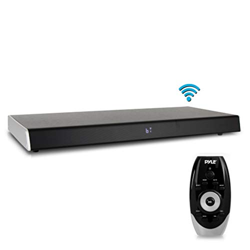 Surround Sound TV Sound Bar - Bluetooth Compatible Wireless Soundbar for TV w/Built in Subwoofer Speaker - Television Sound Bar System w/LCD/Optical Audio/RCA/AUX/USB/Coaxial - PyleHome PSBV620BT.5