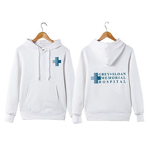 Shepherd Fleece Sweatshirt - winter day Grey Sloan Memorial Hospital Hoodie Meredith Grey Derek Shepherd Grey's Hoodie White M