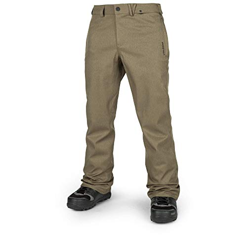 Volcom Men's Solver Reinforced Rise Snow Pant, Military, Medium