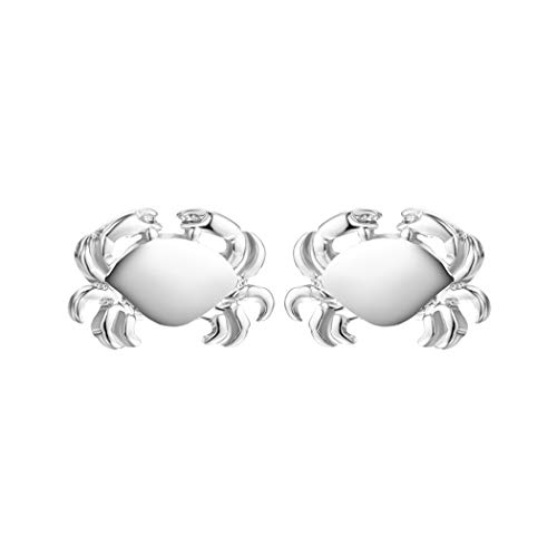 MIXIA Tiny Crab Earrings for Women Jewelry Cancer Zodiac Animal Charm Jewelry Ocean Inspired Vintage Gold Earrings Gift (Silver)