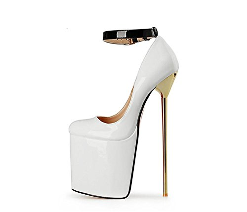 EUR43UK9 imperméables NVXIE Black Red Fall Single Superficiel Shoes Stiletto Heel Femmes Nouveau PU Wedding Dressy Pompes Dames Sexy Bain High WHITE Cheville Bracelet Nightclub Party artificielles Spring rwUFT0rHa