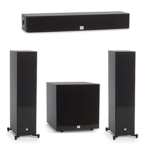 JBL 3.1 System with 2 JBL Stage A190 Floorstanding Speakers, 1 JBL Stage A135C Center Speaker, 1 JBL Stage A120P Subwoofer