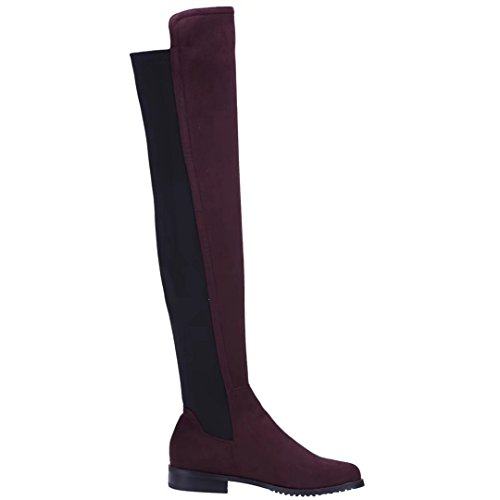 Womens Heel Knee Low Boots Winter Over Autumn on Slip AIYOUMEI Long The Stretch Xg1Xn