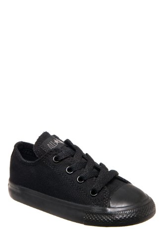 (Converse Toddlers Chuck Taylor OX Classic Black Monoch Basketball Shoe 10 Infants)