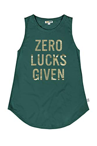 Women#039s St Patrick#039s Day Zero Lucks Given Tank Top  Funny Green St Paddy#039s Shirt