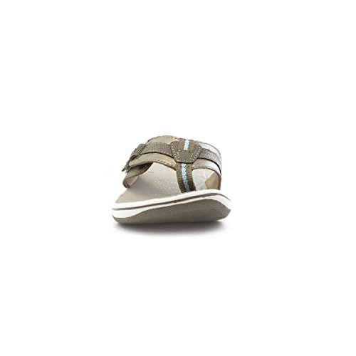 Earth Spirit Womens Platinum Leather Comfy Sandal Multicolour 8ffrD
