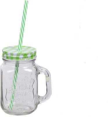 Kraft Mason With Jar Glass Straw500 MlGreen Satyam Mug ZlkOiuPXwT