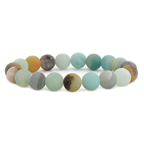 Matte Round Bead Bracelet - 8
