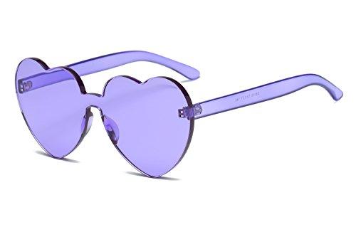 de Forma Color Corazón Unidos Corazón Europa 6 Color en 5 Sol y Trend Gafas Love los Sol Estados Siameses Gafas de YANJING Gafas Jelly Mujeres de 6YA7WHW