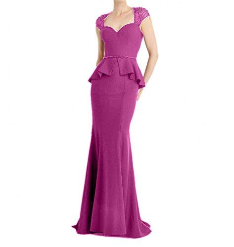Pink Abendkleider Damen Jugendweihe Ballkleider Etuikleider Lang Chiffon Kleider Brautmutterkleider Charmant qzwUd6xqt