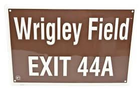 Wrigley Field Exit 44A Metal Sign