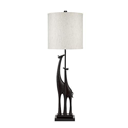 Catalina Lighting 21735-000 Global Giraffe Wood Table Lamp, 40