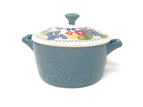 Pioneer Woman Mini Casserole with Lid (14.4 of, Teal)