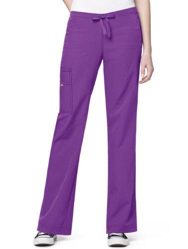 (WonderWink Women's Scrubs Four Way Stretch Cargo Drawstring Pant, Electric Violet, Large)