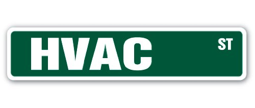 HVAC Street Sign Decal high Voltage air Conditioning ac | Indoor/Outdoor |  18