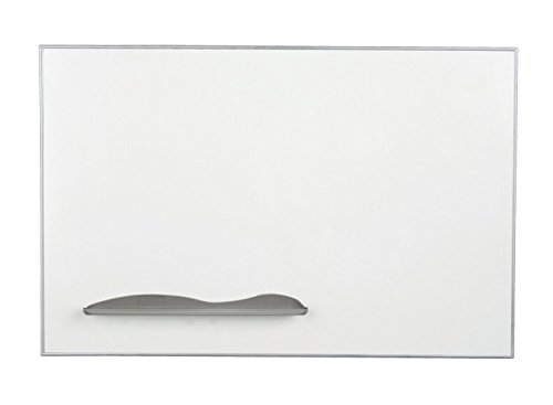 Balt Magnetic Porcelain Steel Dry Erase Q Tray Markerboard Ultra Trim Silver 2'H x 3'W electronic consumers by Brandz