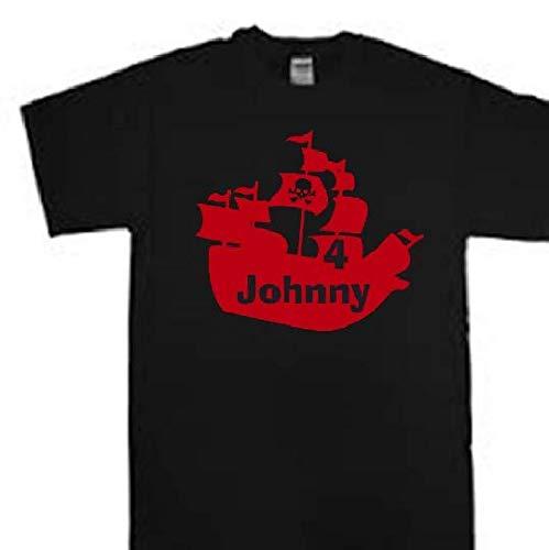 Amazon Personalized Pirate Ship Birthday Shirt Little Boys Tshirt Handmade